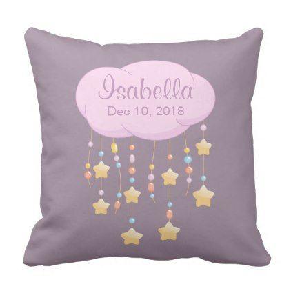 baby name throw pillow   Zazzle