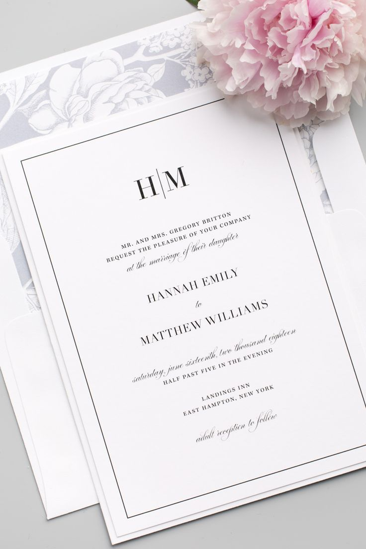 Glam Monogram Wedding Invitations | Belly bands, Wedding programs ...
