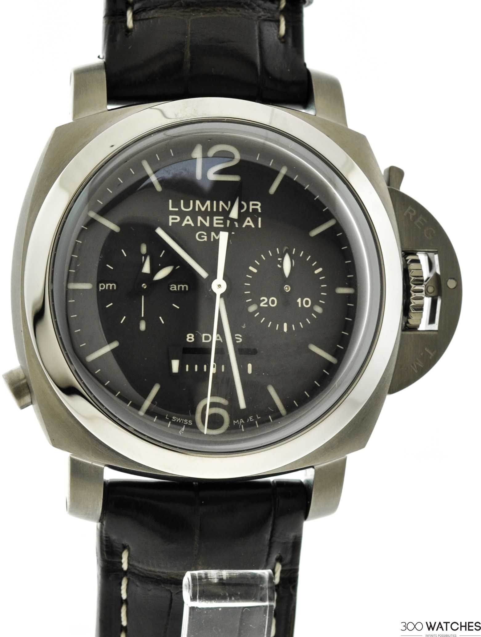 Mens Panerai Luminor 8 Days Pam Titanium Chronograph Auto | chronograph watches for men Item ID: 300W109307 | 300watches
