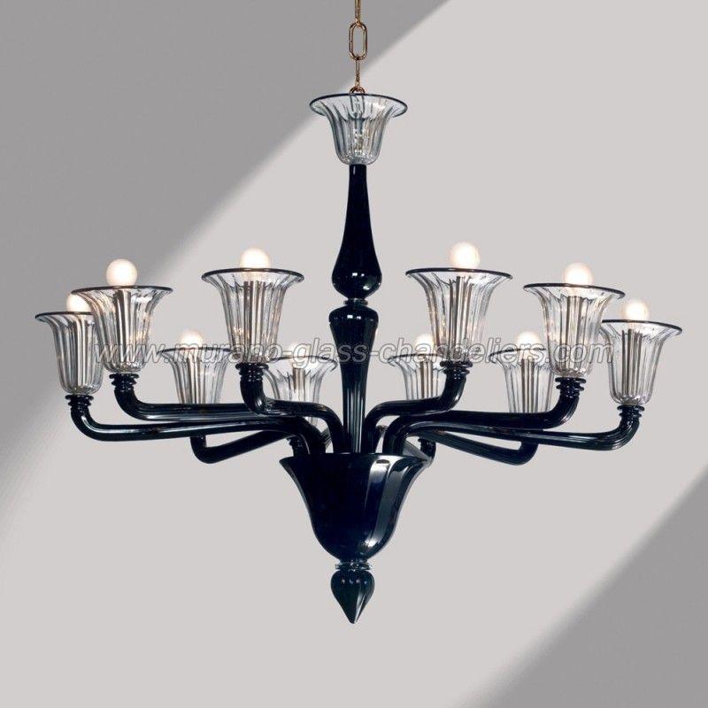 Coco black murano glass chandelier murano glass chandeliers and coco 10 lights black murano glass chandelier aloadofball Choice Image