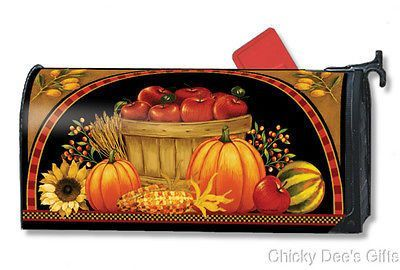 MAILWRAP Magnetic Mailbox Cover Harvest Basket Autumn NEW