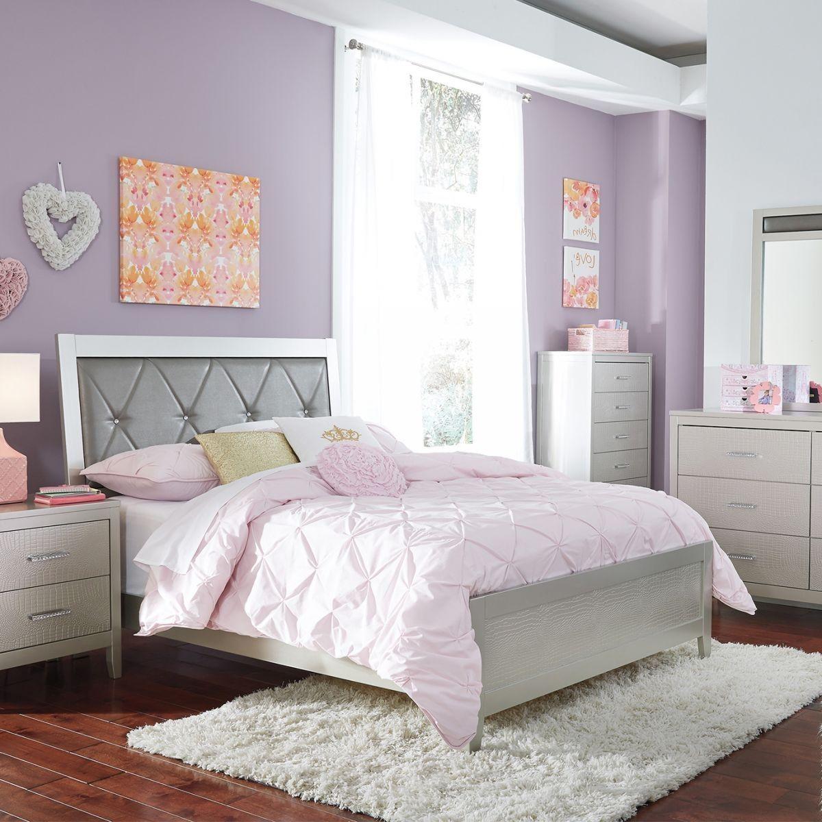 Olivet Metallic 5 Pc Full Bedroom Royal Furniture Bedroom Sets