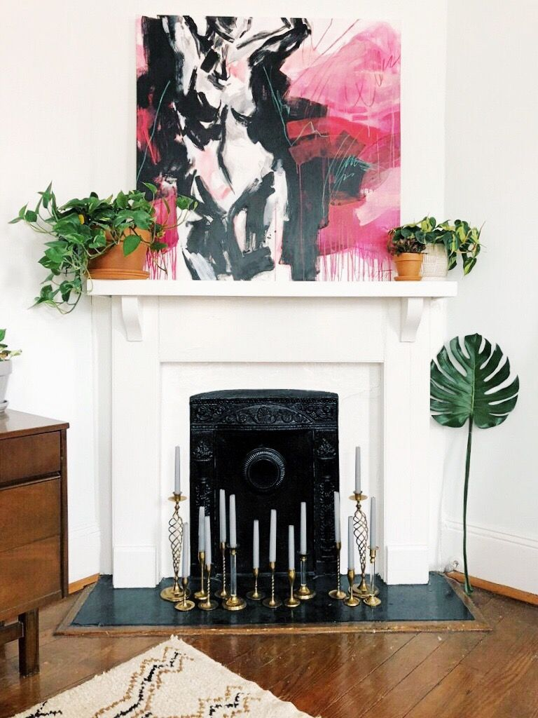 Beautiful Charleston Home styled with original art. Mantle Accent ...