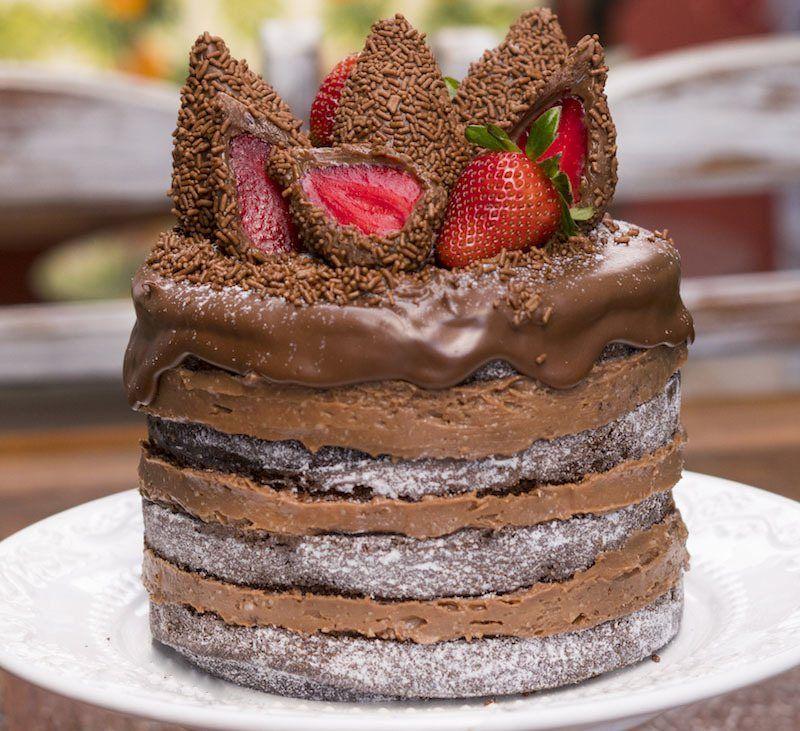 Naked Cake de chocolate com morango » Blog Verdade Feminina