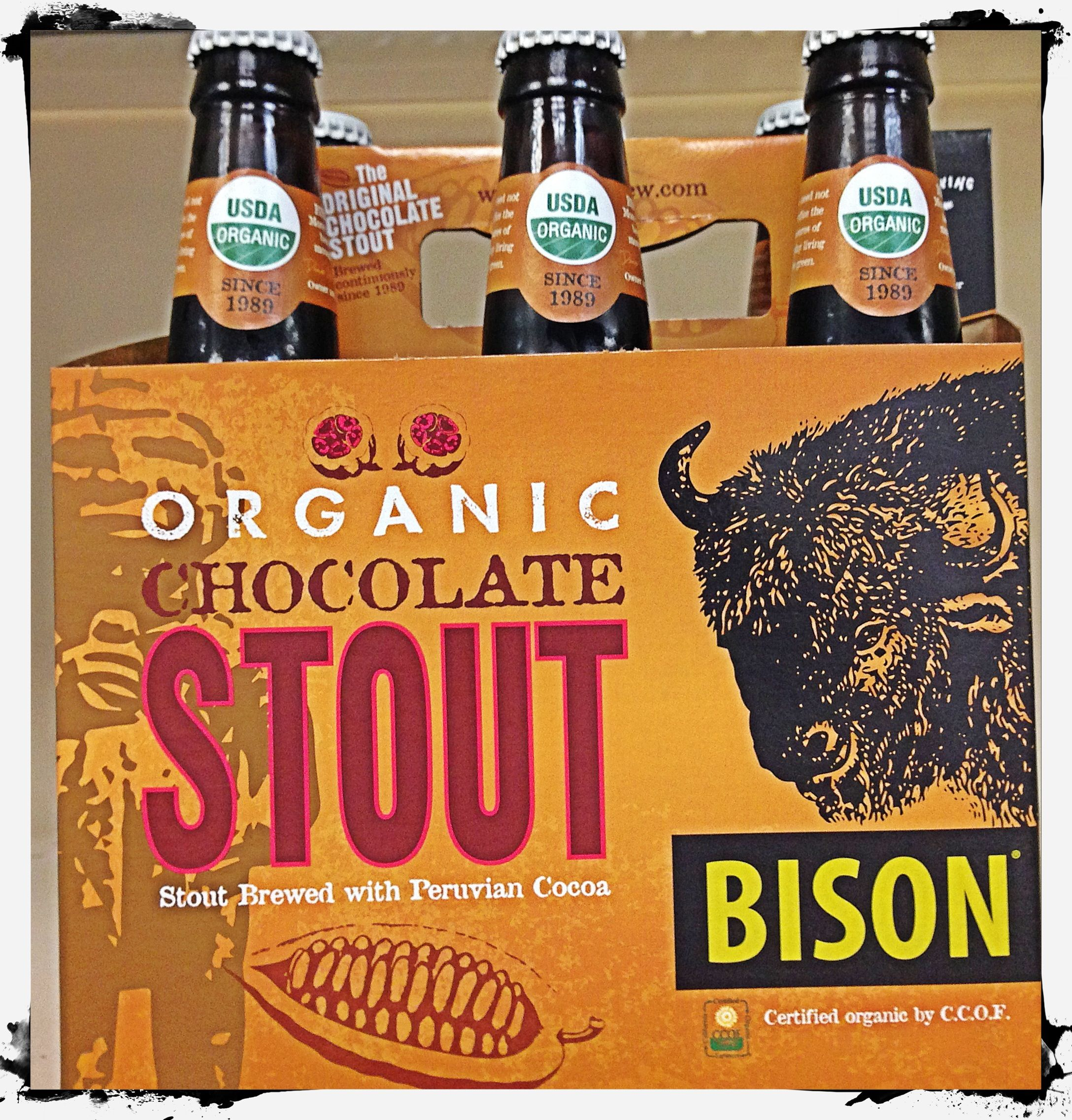Organic Chocolate Stout  https://www.facebook.com/pages/Avas-Downtown-Market-Deli/326790720682124?ref=hl