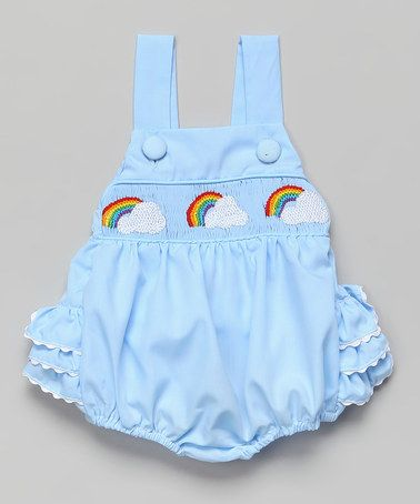 953f40ac597 Blue Rainbow Smocked Ruffle Bubble Sunsuit - Infant   Toddler by Smocked or  Not  zulily  zulilyfinds