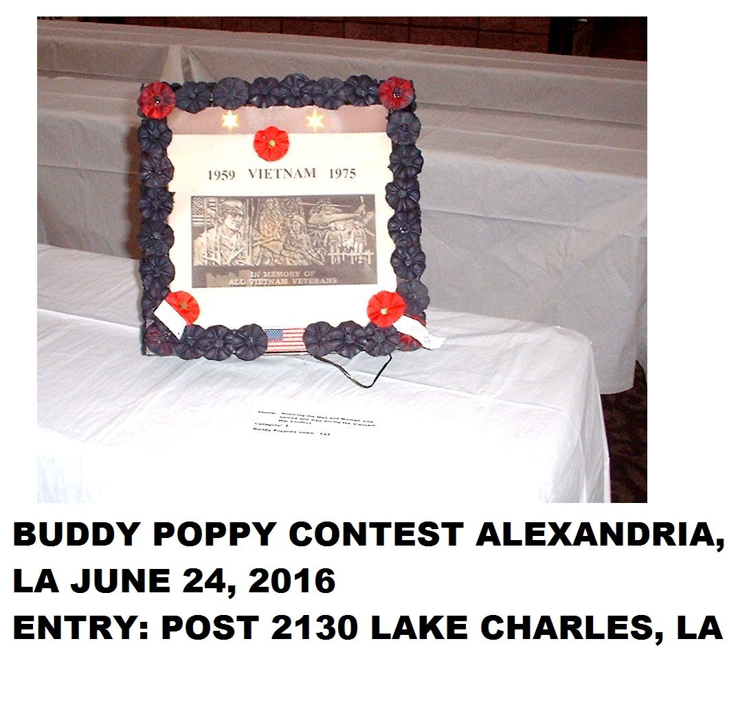 2016 VFW BUDDY POPPY DISPLAY CONTEST STATE CONVENTION JUNE
