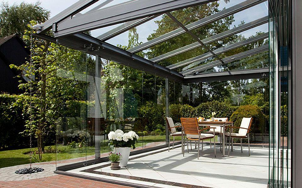 Glashaus Wintergarten glashaus light glas schiebetüren terrassenüberdachung