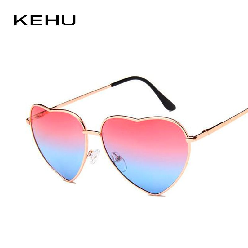 3b4df6c0bd  8.88 - Cool KEHU Heart Shaped Sunglasses Women Metal Frame Reflective Lens  Sun protection Sunglasses Men Mirror Oculos De Sol Fashion k9073 - Buy it  Now!