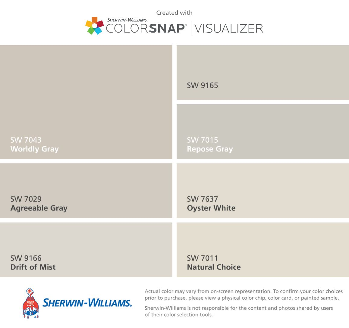 I Found These Colors With ColorSnapR Visualizer For IPhone By Sherwin Williams