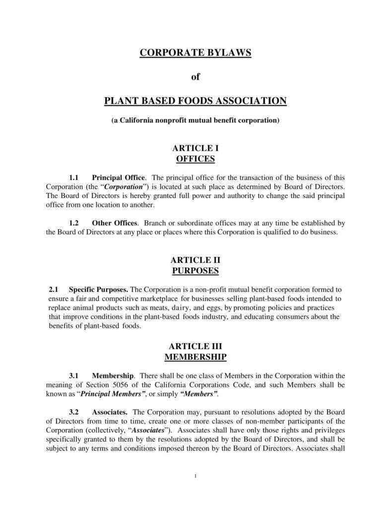 9 Corporate Bylaws Templates Pdf Free Premium Templates Intended For Corporate Bylaws Template Wo Word Template Business Template Professional Templates Board of directors bylaws template