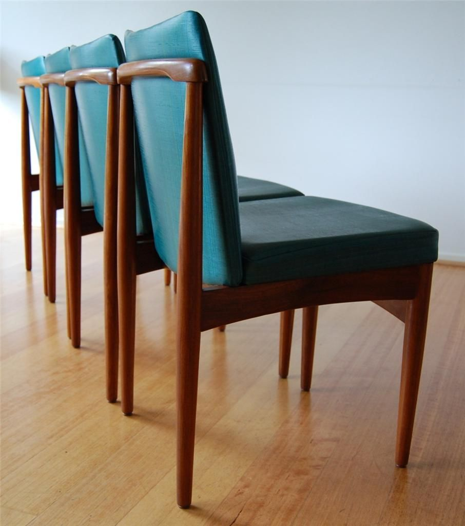 Retro Mid Century Rosewood Danish Modern Dining Chairs X 4 By Rodd Furniture