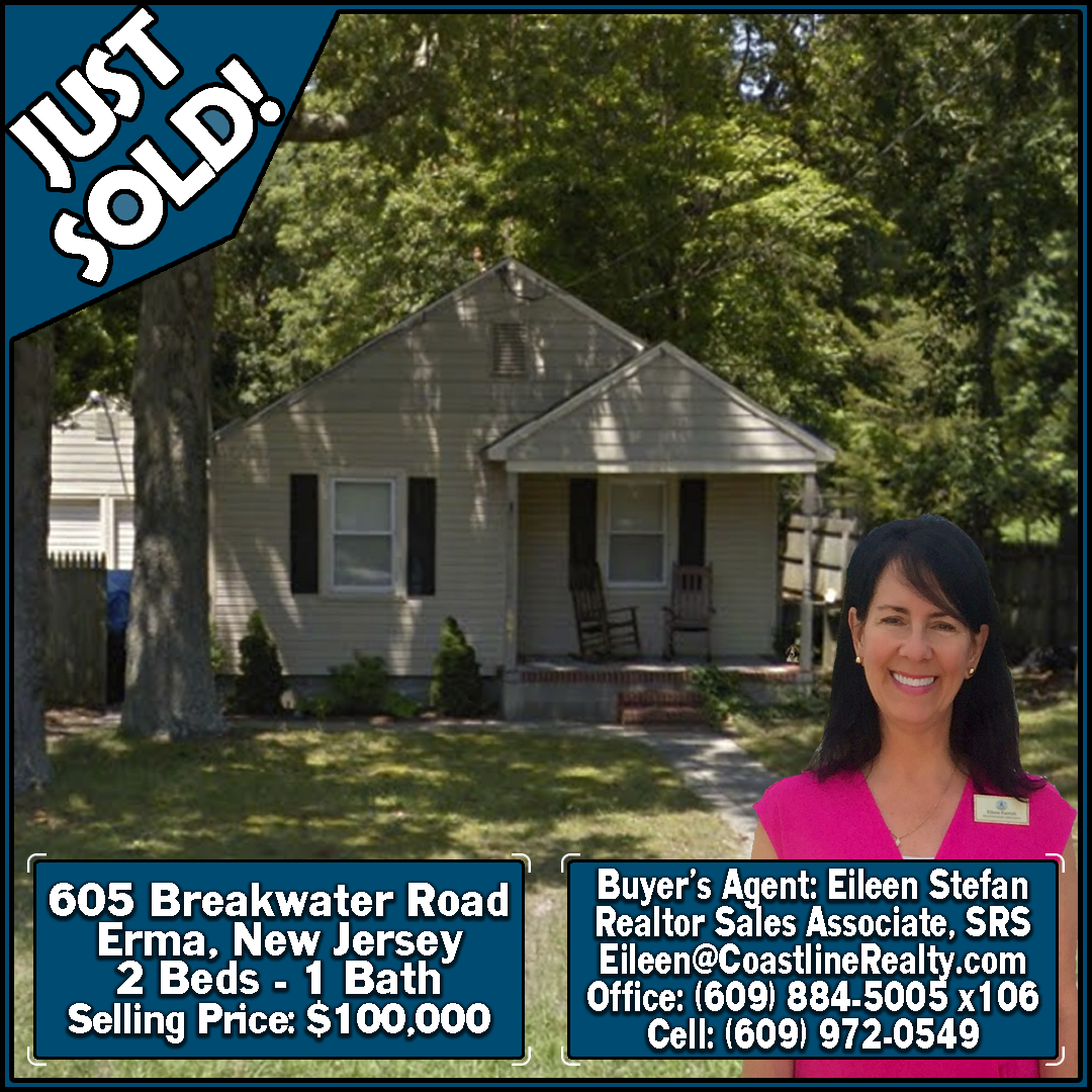 Justsold Buyersagent Lowertownship 605 Breakwater Road Erma Nj 08204 2 Bedrooms 1 Bathroom Selling Price 100 00 In 2020 Buyers Agent Cape May County Cape May