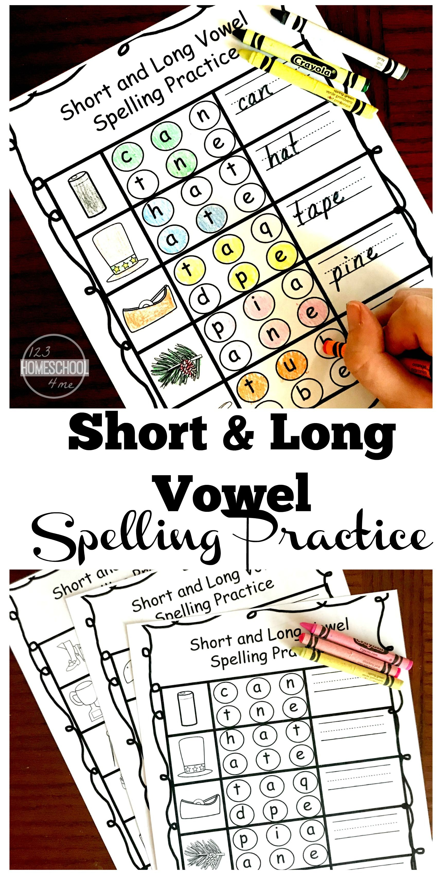 Free Short And Long Vowel Spelling Practice