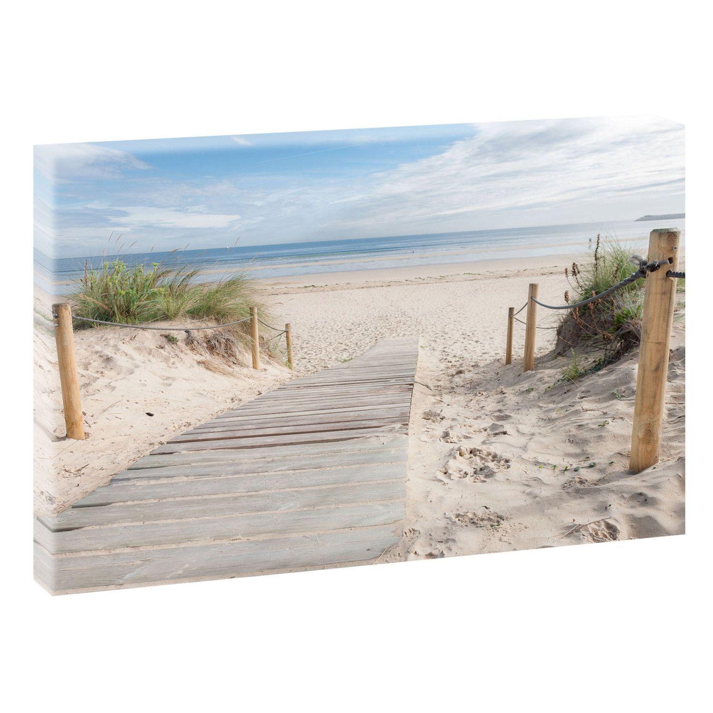 gone to the beach picture beach sea stretcher canvas poster xxl 120 cm 80 cm 624 bilder. Black Bedroom Furniture Sets. Home Design Ideas