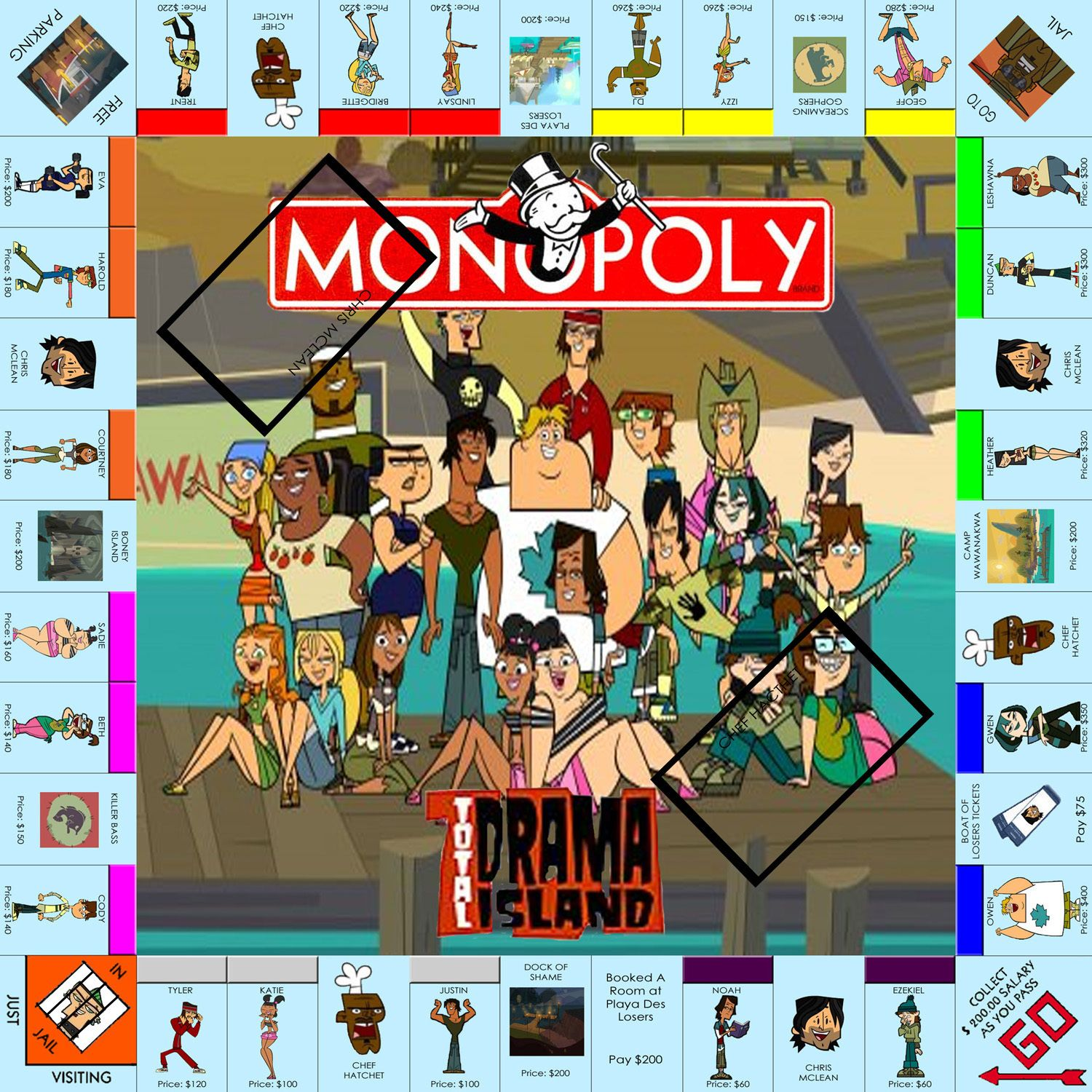 total drama island monoply i want thuis game sooo badly total
