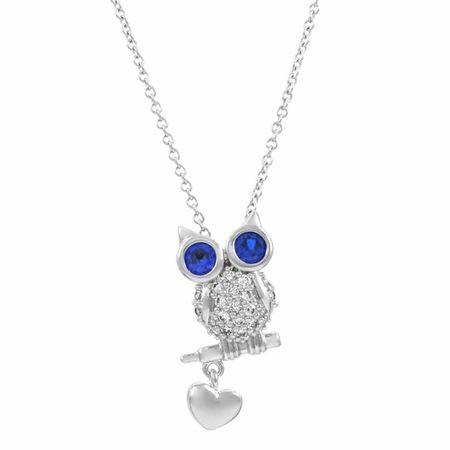blue eyed owl necklace    www.DangleDangle.com