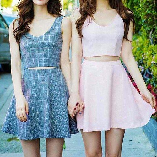 Korean street fashion style dress