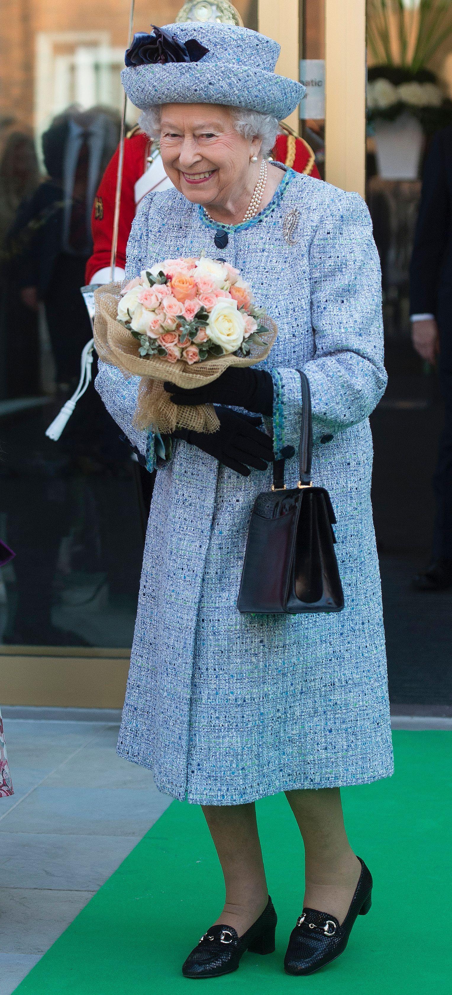 These Are Queen Elizabeth S Most Regal Rainbow Looks Queen Elizabeth Queen Hat Royal Blue Outfits [ 3365 x 1528 Pixel ]