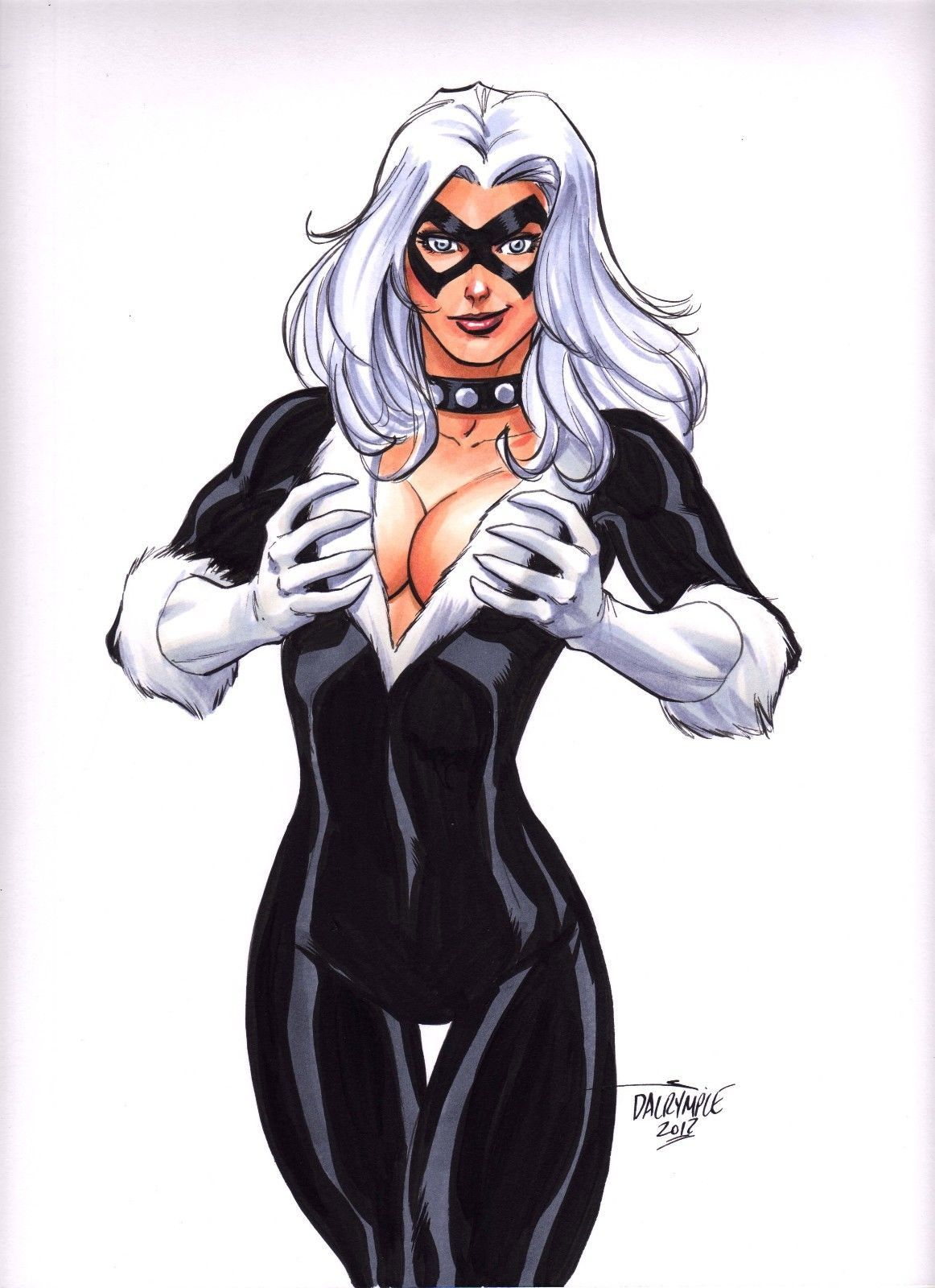 Spiderman sexy black cat
