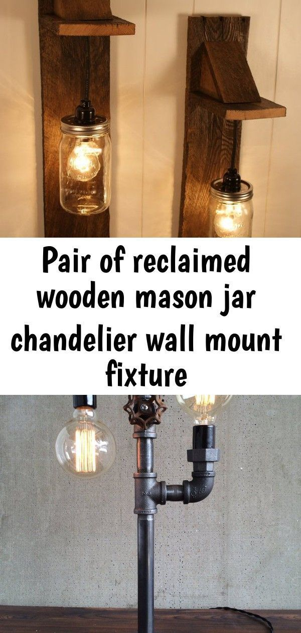 Pair of reclaimed wooden mason jar chandelier wall mount fixture #jarchandelier DIY Pallet Mason Jar Chandelier / light Fixture, awesome lighting idea to give a try! #DIYDude Modern Table Lamp  - Industrial Lighting - Iron Piping - Rustic Light  Jameson Wall lamp Jameson whiskey bottle Lamp Kitchen decor image 0 #jarchandelier Pair of reclaimed wooden mason jar chandelier wall mount fixture #jarchandelier DIY Pallet Mason Jar Chandelier / light Fixture, awesome lighting idea to give a try! #DIYD #jarchandelier