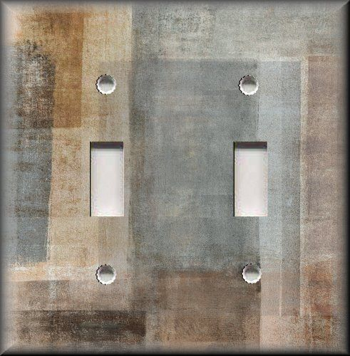 Details About Metal Light Switch Plate Cover Abstract Art Modern