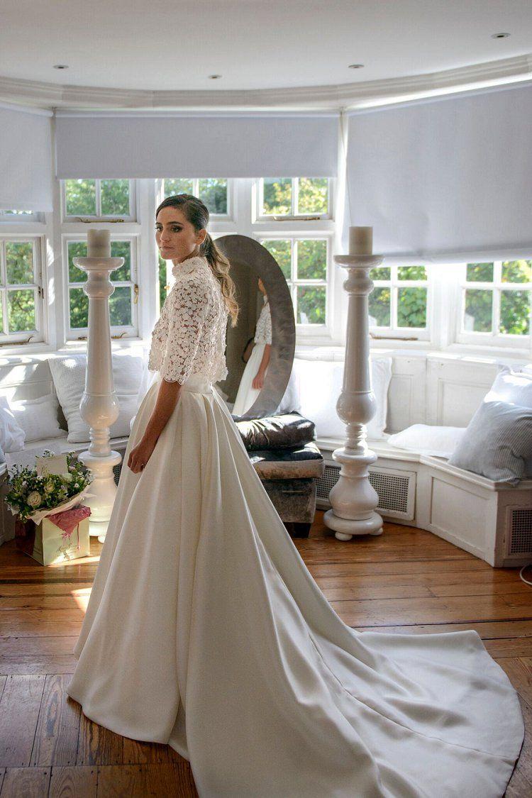 A creative indoor forest Jewish wedding with a Ritva Westenius bride ...