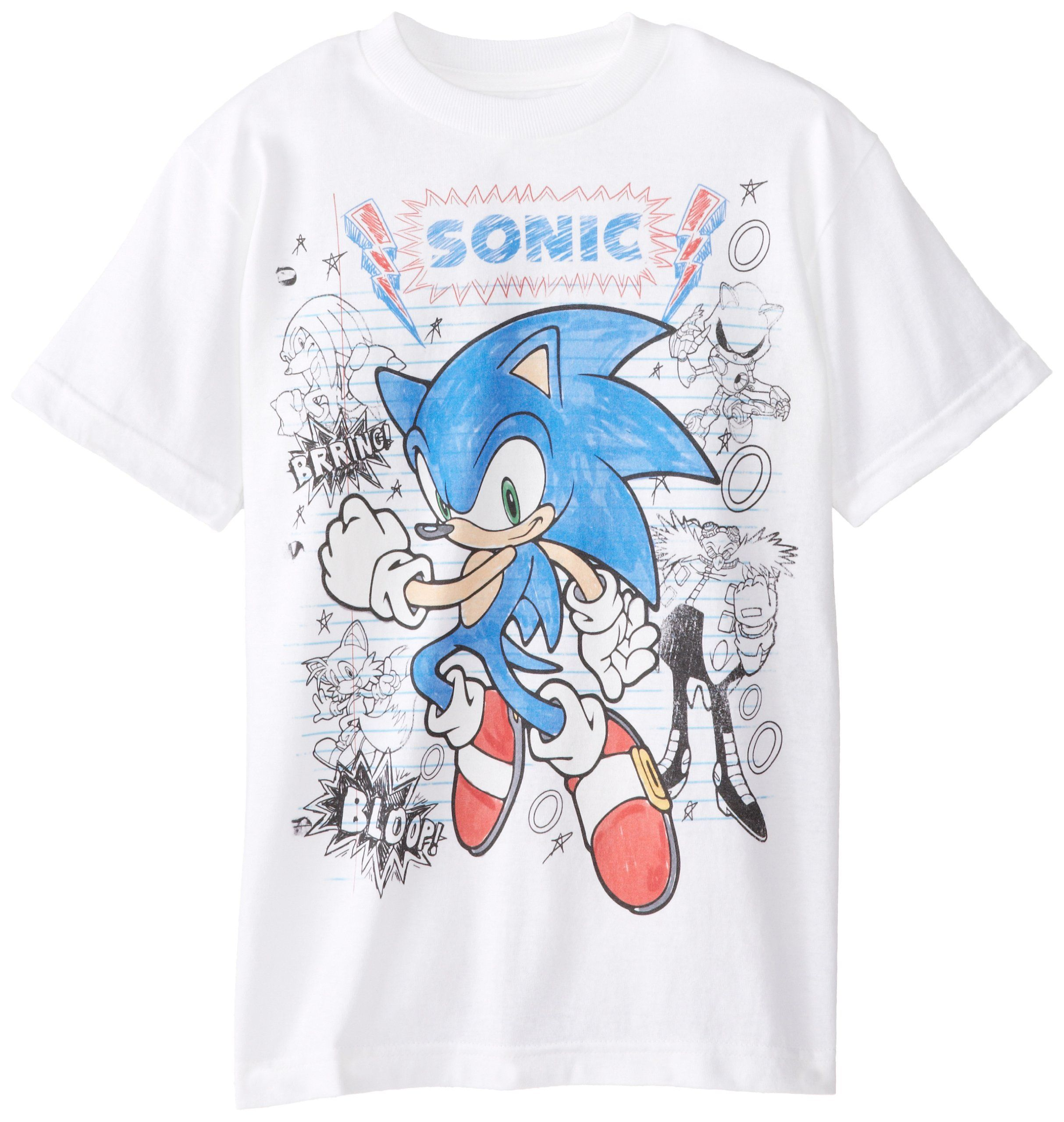 Sonic The Hedgehog Big Boys Sketched Hero Boy Sketch Sonic Sonic The Hedgehog