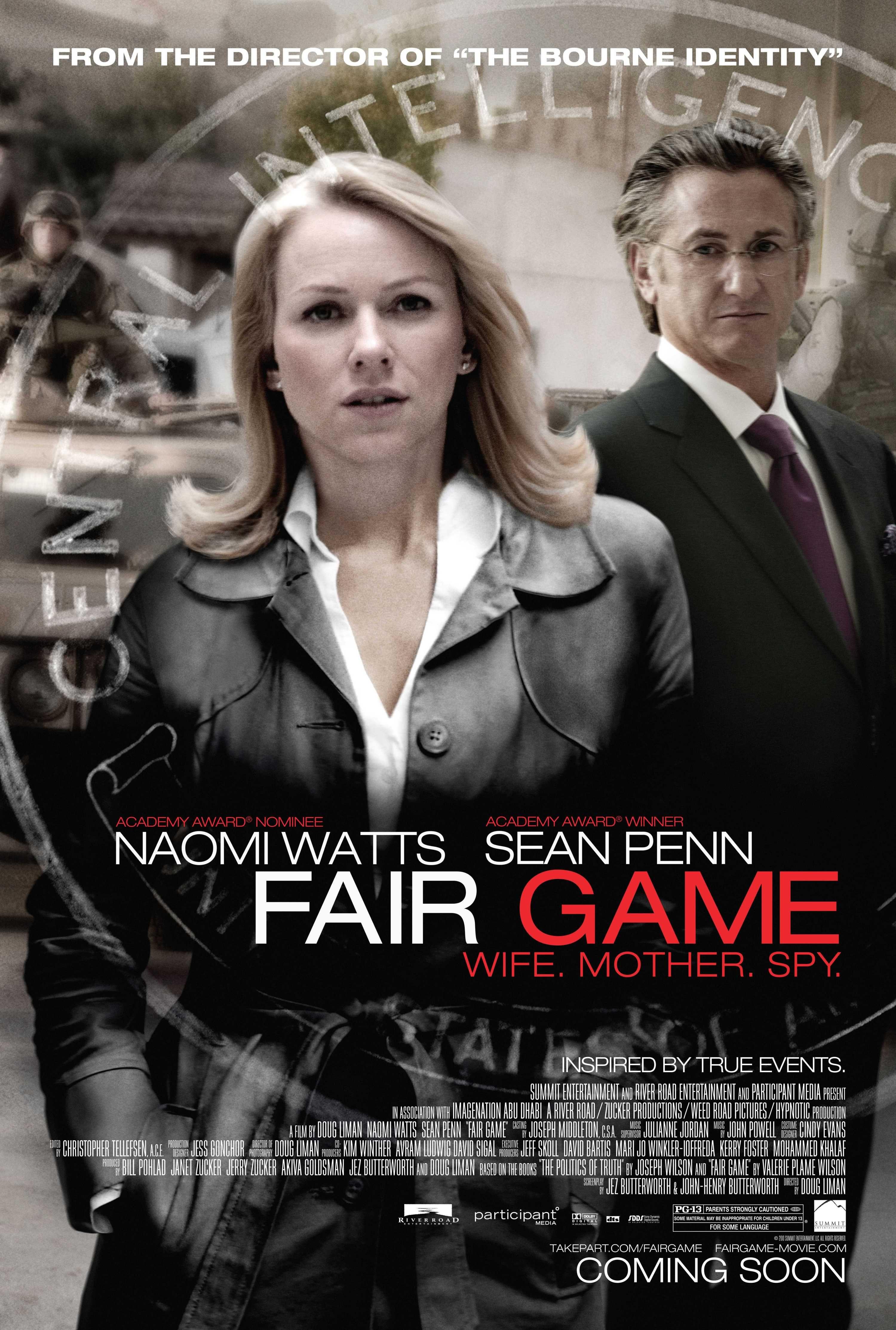 Fair Game 2010 Movie Film Cinema Yeonghwa Pelicula Poster Recommendation Mustsee Mustwatch Worthwatch Fair Games Naomi Watts Sean Penn