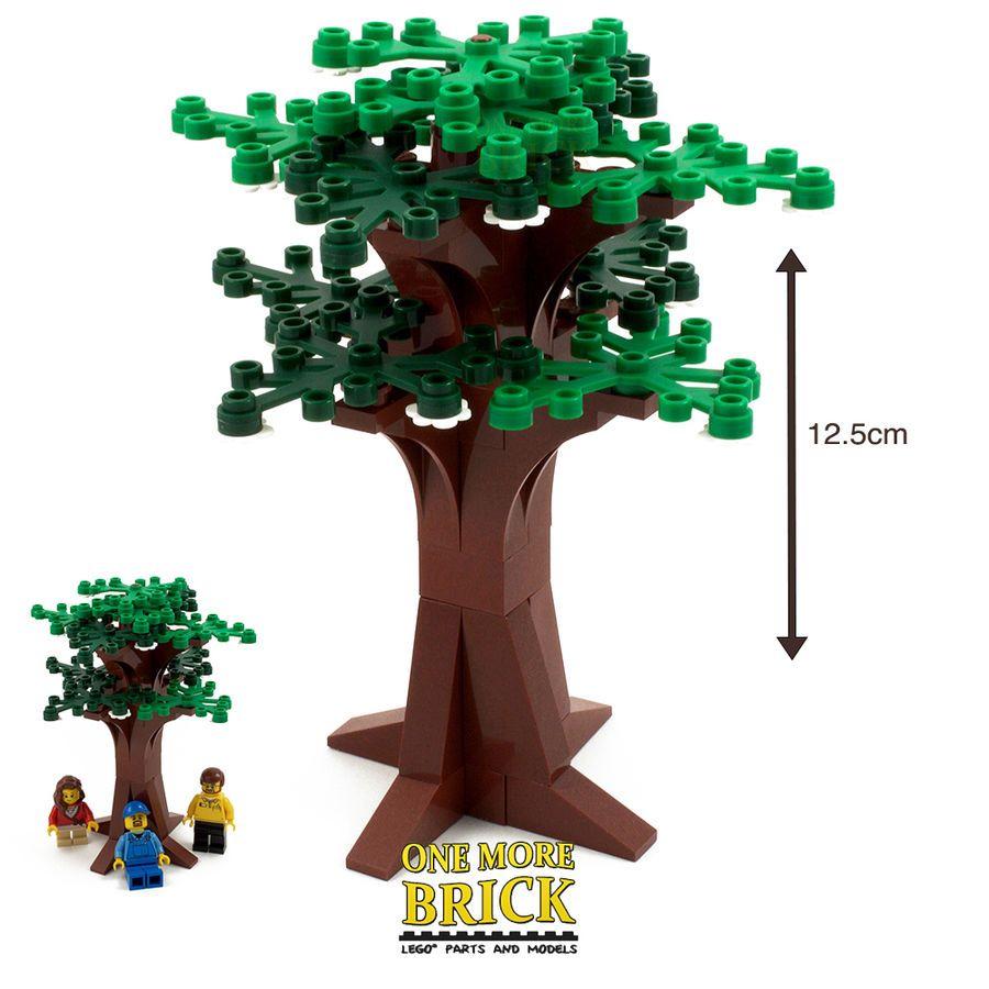 Summer Tree Large Bushy Tree Custom Model Instructions All Parts Lego Lego Tree Lego Tree House Lego Christmas Tree