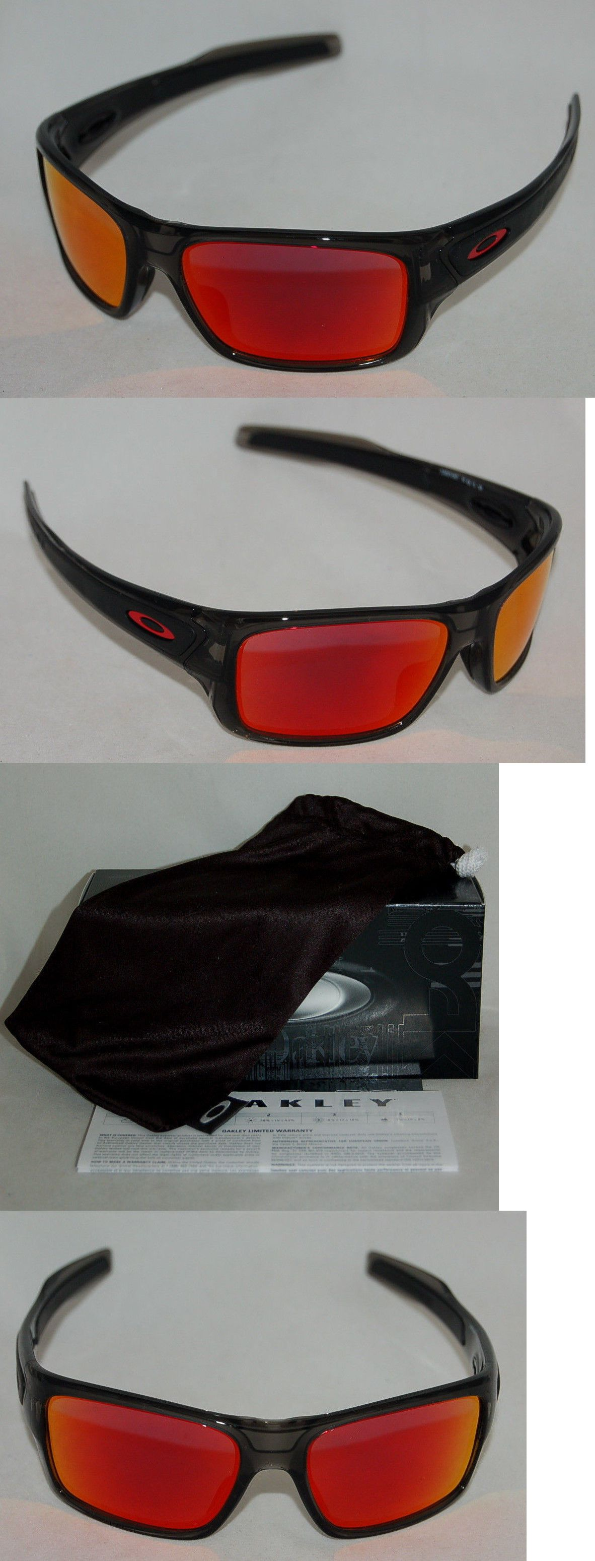 ab0ec65944466 Sunglass Lens Replacements 179194  New Oakley Turbine Xs Oj9003-0457 Youth  Fitgrey Smoke W Ruby Lens -  BUY IT NOW…
