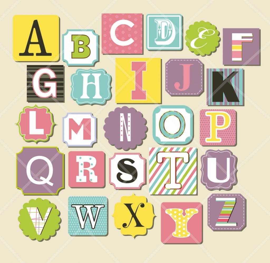 Scrapbook Letters Designs Printable Stickers