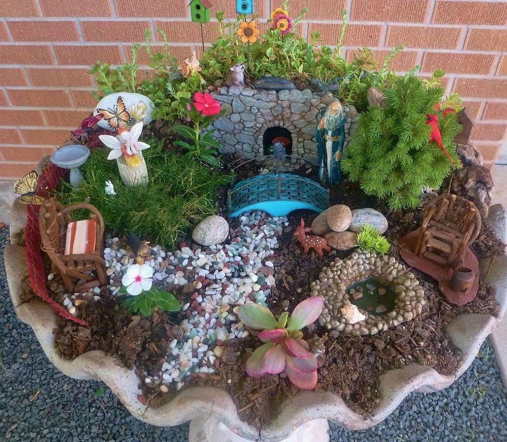 Fairy Birdbath Garden Inspiration!