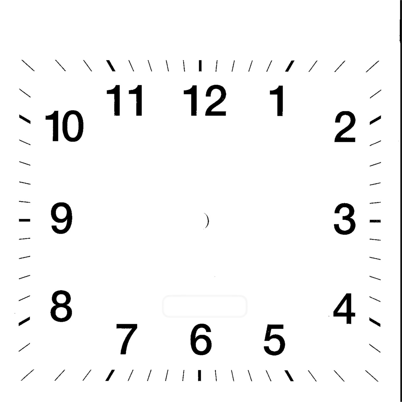 Printable Blank Clock Face
