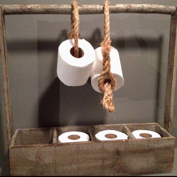 Porta carta igienica oggetti fai da te pinterest - Porta asciugamani fai da te ...