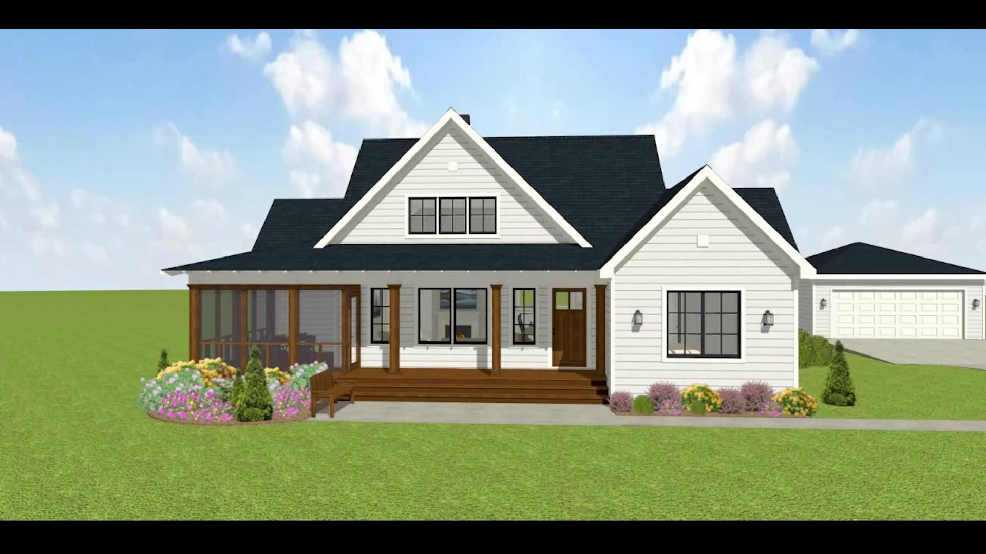 3 Bed Modern Farmhouse Home Plan 28923JJ - 3D Virt