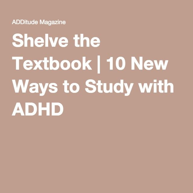 The New Way To Study With Adhd >> 10 Secrets To Studying Smarter With Adhd Study Skills