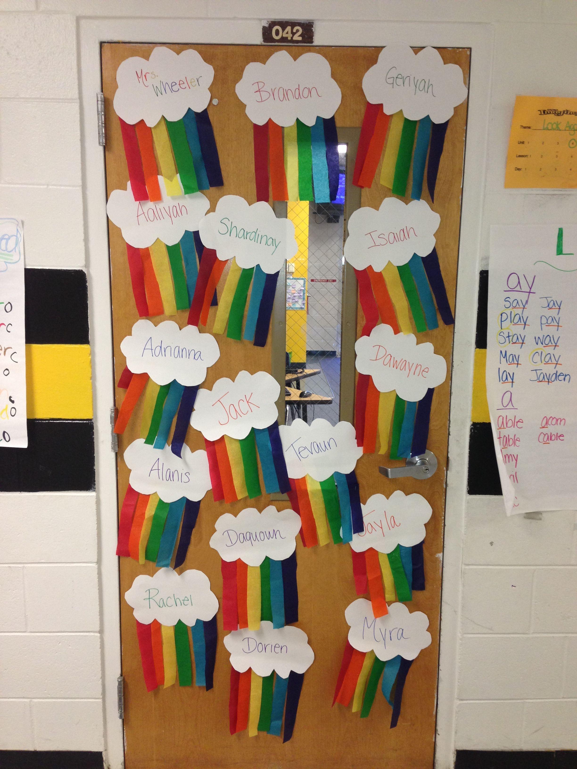 My march classroom door decor classroom door decorations for Chart paper decoration ideas