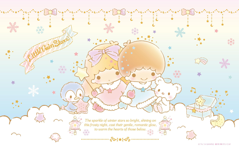 Little Twin Stars Wallpaper 16 十二月桌布 日本草莓新聞 キキララ 壁紙 星 壁紙 リトルツインスターズ