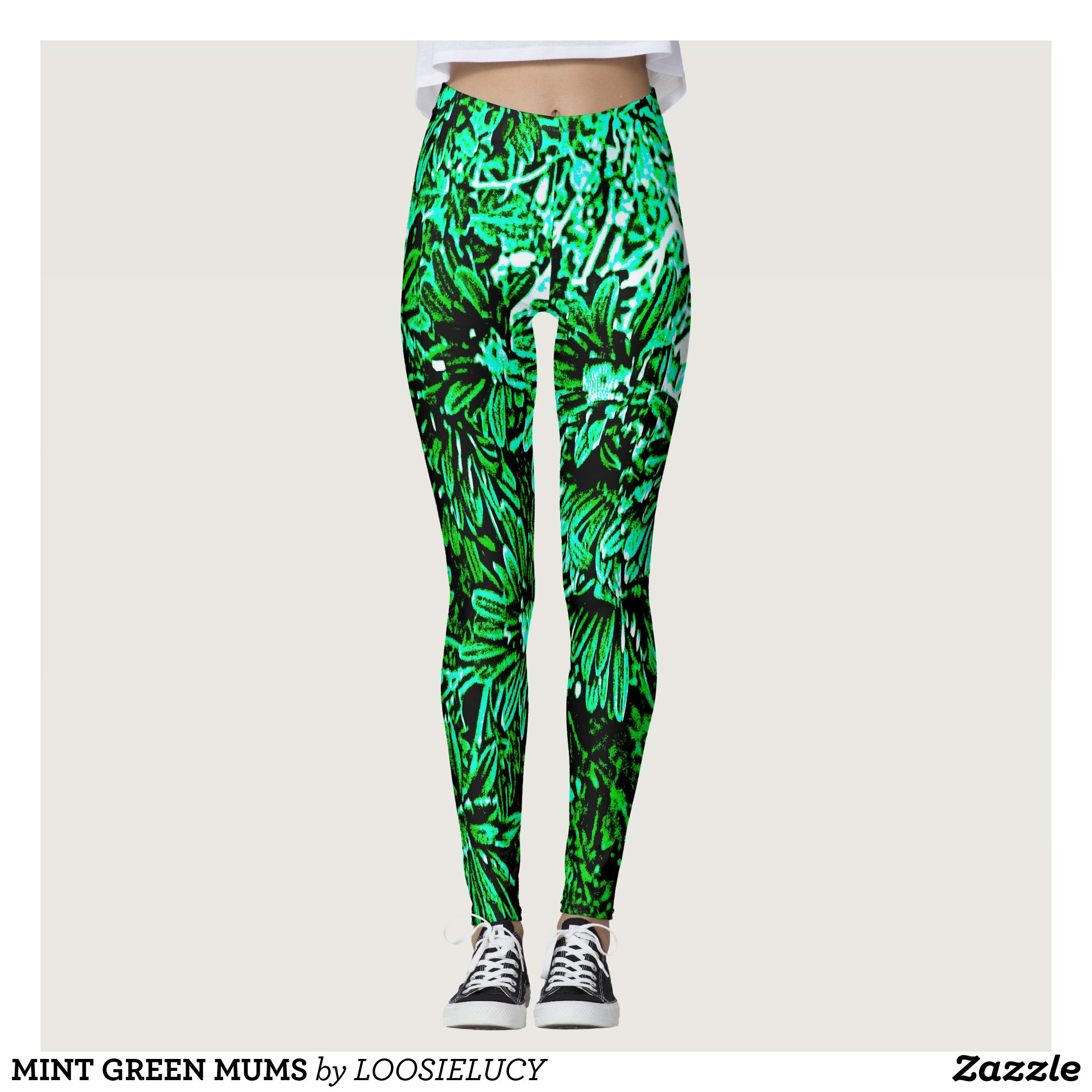 MINT GREEN MUMS LEGGINGS Beautiful Yoga Pants