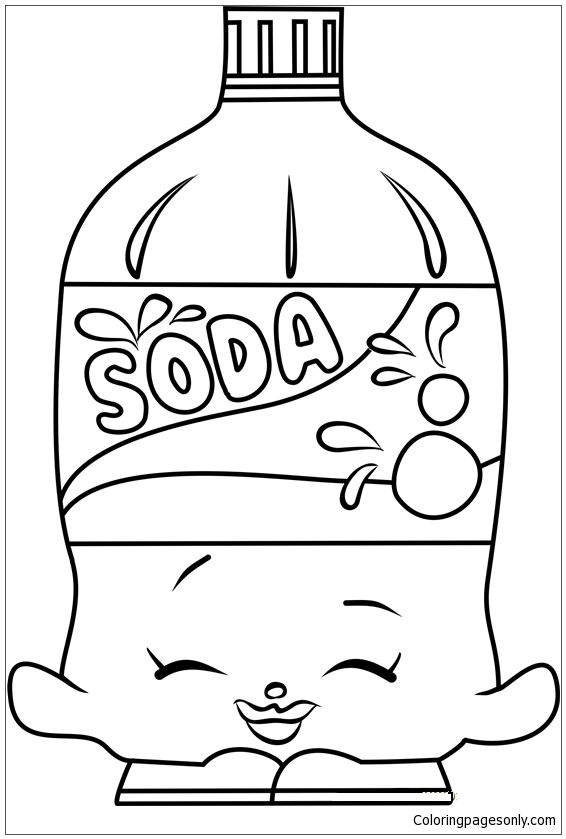 Soda Shopkins Coloring Page