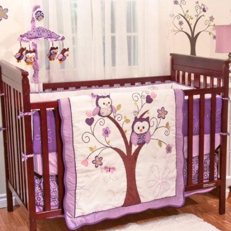 Plum Owl Meadow Crib Bedding Baby And Accessories