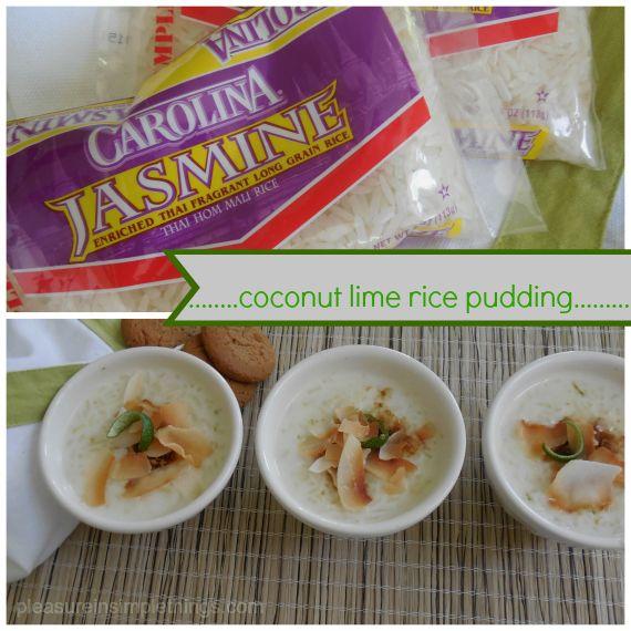 Carolina jasmine rice and coconut lime rice pudding recipe ...