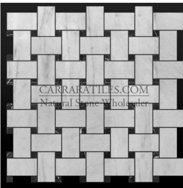 Marble Basketweave Floor Tile Honed Vs Polished Bathrooms Forum Gardenweb Carrara Marble Mosaic Tiles Bianco Carrara