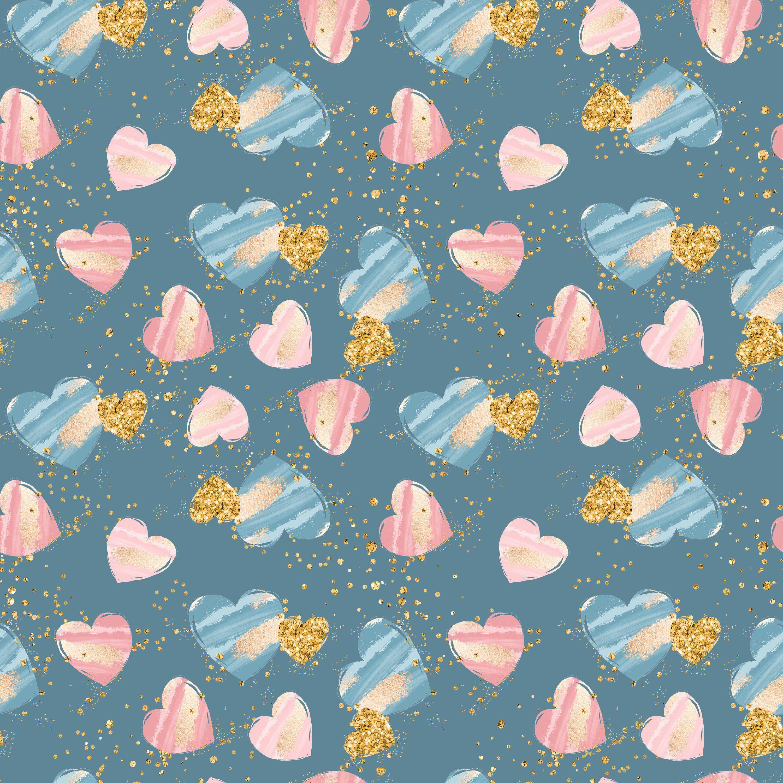 8baf44c8b1c Heart fabric, glitter fabric, knit fabric, gold heart fabric, cotton fabric,  organic cotton, jersey fabric, quilting fabric, heart prints