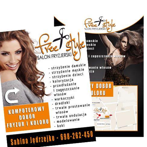 Ulotki Dla Salonu Fryzjerskiego Free Styl Projekty