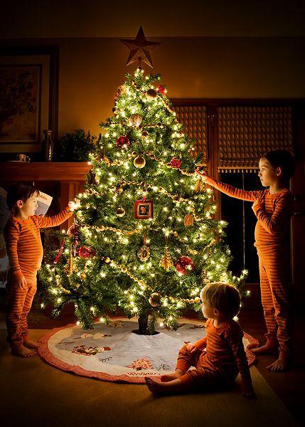 открытый пирог фото всей семьей у елочки новогодней модели еловых