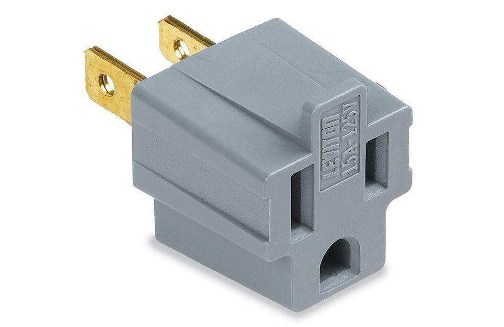 Power plug brand LEVITON. A product photograph taken by David Kosmin ...