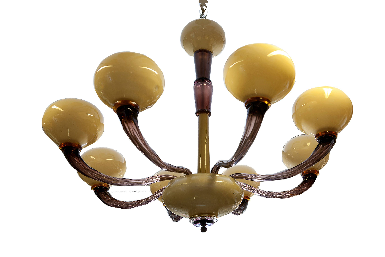 Murano glass chandelier vintage chandelier amethyst glass modern