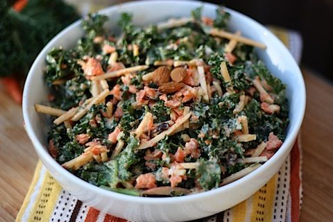 Kale-Slaw with Curried Almond Dressing from Let Them Eat Vegan! by Dreena Burton